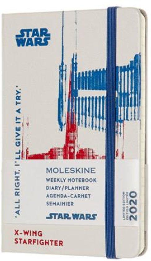 Afbeelding van Moleskine 12 Maanden Agenda Limited Edition Planner 2020 - Star Wars - Wekelijks - Pocket (9x14 cm) - X-Wing