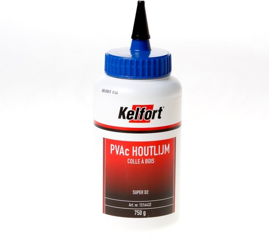 Kelfort Houtlijm D2 Flakon - Wit - 750 ml