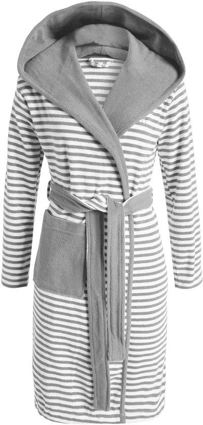 ESPRIT Striped Hoodie - badjas - XL - Grijs