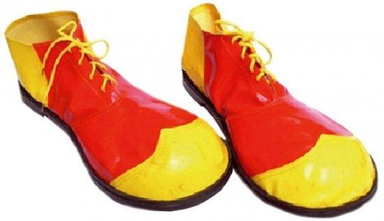 Chaussures Jaunes Clown Avec Rouge zZJ54a