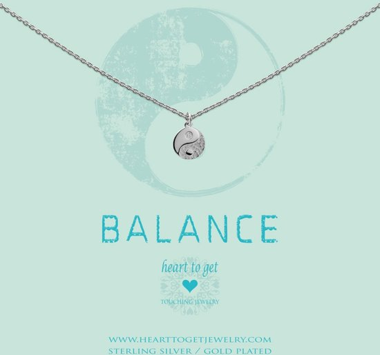 Heart to Get - N257CYY15S you are the yin to my yang necklace coin Yin Yang silver