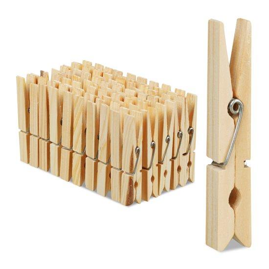 Populair bol.com   relaxdays wasknijpers hout 100 stuks - houten knijpers #IU94