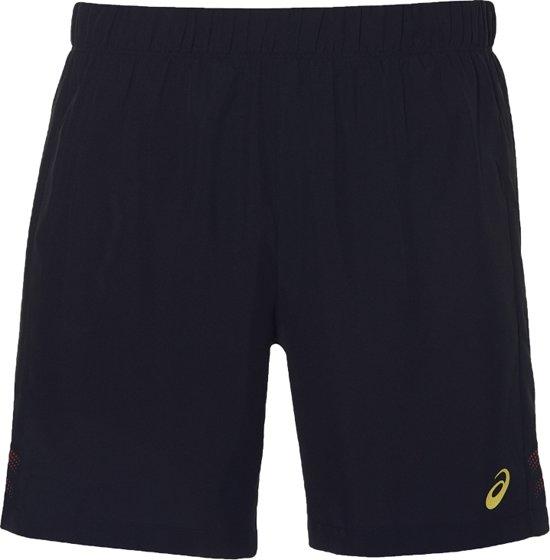 Asics Icon Short 2011A316-913, Mannen, Zwart, Sportbroeken maat: XL EU