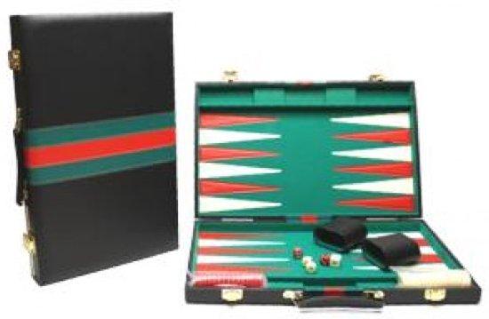 Afbeelding van het spel Hot Sports Backgammon Koffer Zwart 38x24