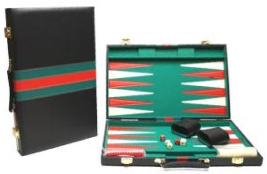 Hot Sports Backgammon Koffer Zwart 38x24