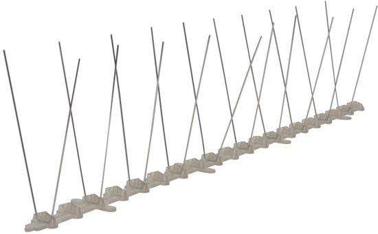 vidaXL Vogel- en duivenpinnen kunststof 2 rijen set van 6