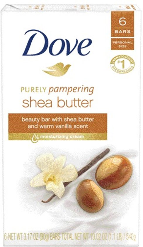 Dove Purely Pampering Sheabutter & Vanille - 6 x 100 g - Zeep