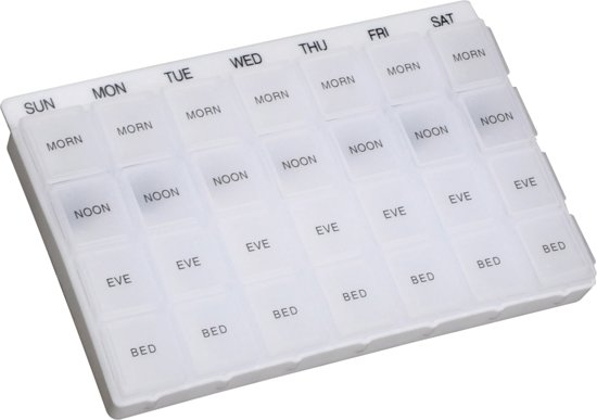 Aidapt week pillendoos engelstalig transparant
