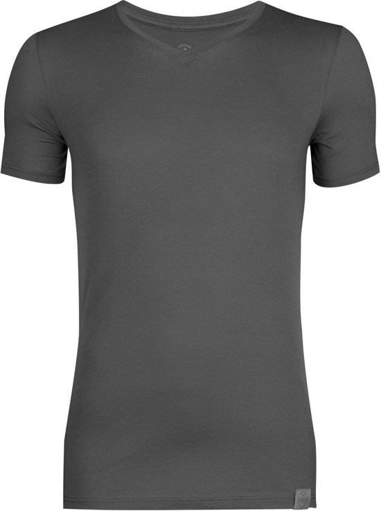 RJ Bodywear The Good Life, T-shirt V-hals, grijs