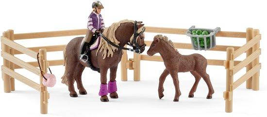 Schleich Ruiter met Ijslandse ponys 42363 - Paard Speelfiguur - Horse Club - 8,2 x 24,5 x 19 cm