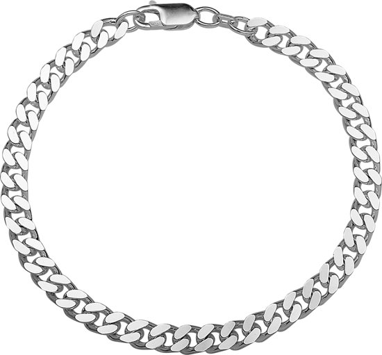 The Jewelry Collection For Men Armband Geslepen Gourmet 5,5 mm - Zilver