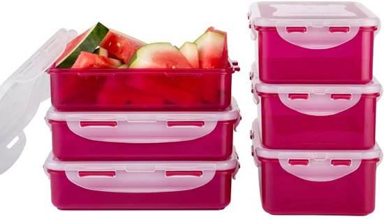 Lock&Lock Vershoudbox - Set van 6 Stuks - Berries