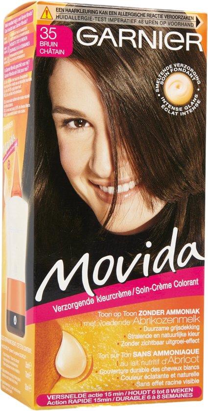 Garnier Movida Haarverf - 35 Bruin - Kleurcrème Toon-op-Toon - Zonder Ammoniak - Met Voedende Abrikozenmelk