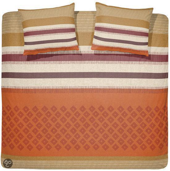 bol com   Damai Zambesi dekbedovertrek   Orange   Lits jumeaux (240×200  220 cm + 2 slopen)
