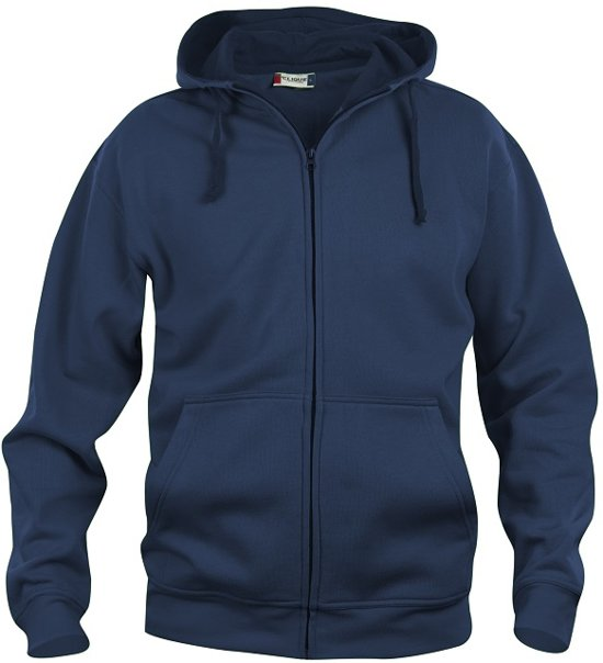 Clique Basic hoody full zip Donker Navy maat L