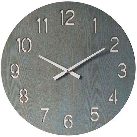 Wandklok Greywash Hout - Ã60 cm