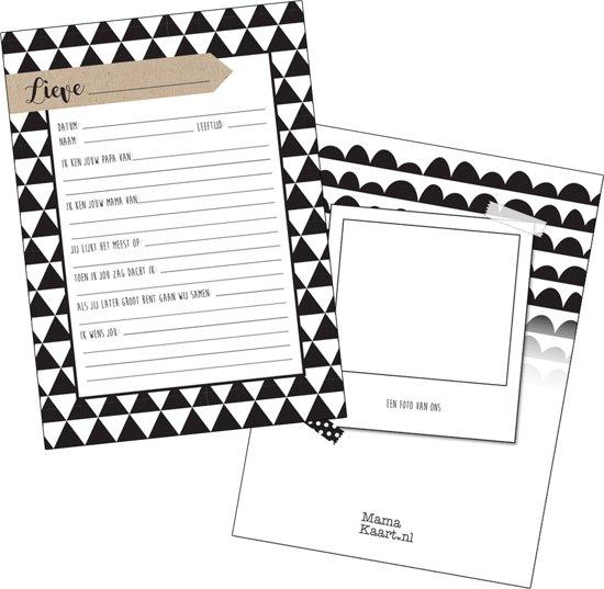 Kraambezoekkaarten - Zwart Wit - MamaKaart.nl