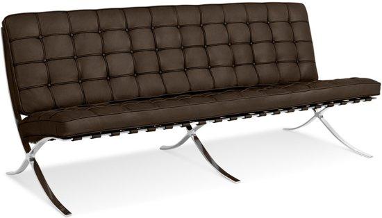 3 Zits Bank Design.Bol Com Design 3 Zits Bank Barcelona Pavillion 3 Seat Sofa Bruin