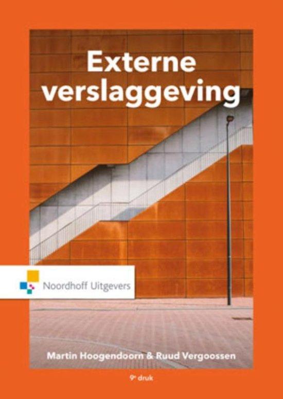 Boek cover Externe verslaggeving van M.N. Hoogendoorn (Paperback)