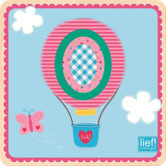 Lief Lifestyle Luchtballon Groot Naar Klein Puzzel Hout