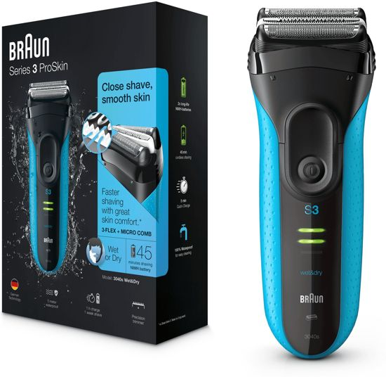 Braun Series 3 3040s ProSkin Blauw - Elektrisch Scheerapparaat