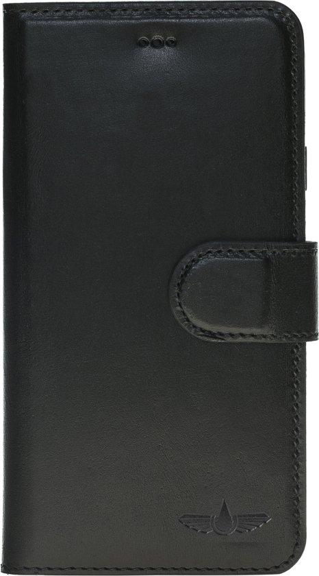 GALATA® Echte Lederen Wallet - Book case voor iPhone 6 / 6S zwart in Wolkrange