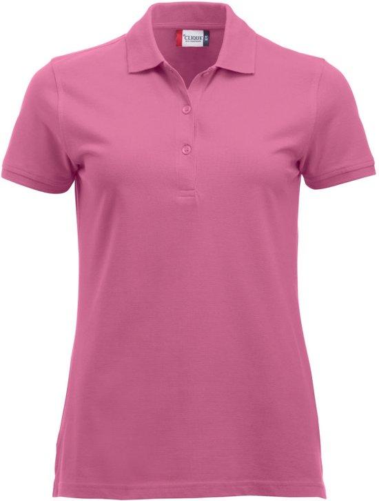 Classic Marion ds polo KM helder roze m
