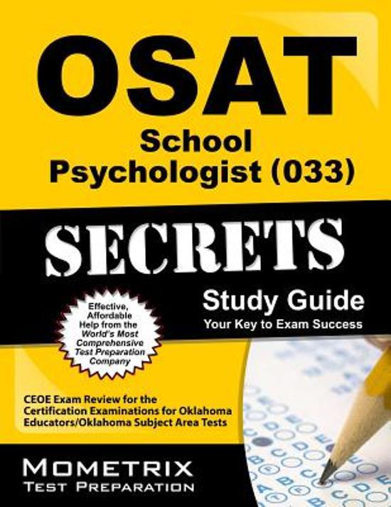 OSAT School Psychologist (033) Secrets