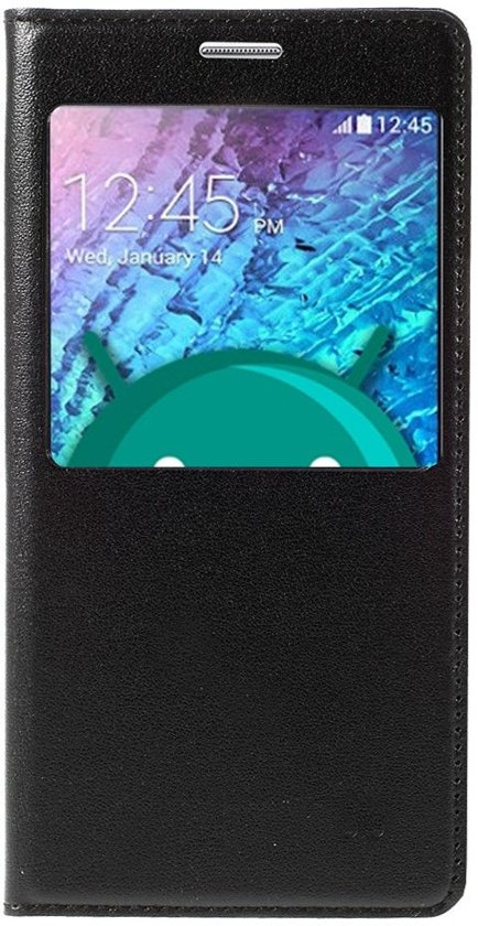 Shop4 - Samsung Galaxy J5 (2015) Hoesje - Window View Case Zwart in Achel