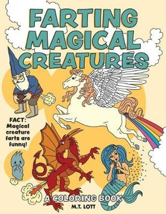 Bol Com Farting Magical Creatures Coloring Book M T Lott