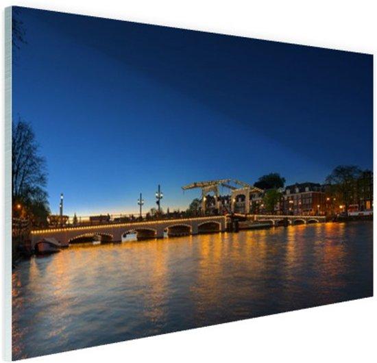 Magere brug over de Amstel Glas 30x20 cm - klein - Foto print op Glas (Plexiglas wanddecoratie)