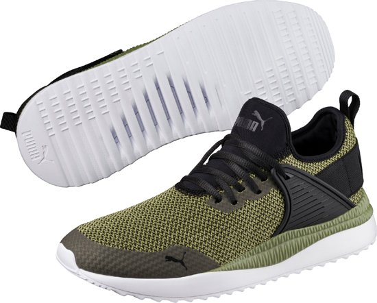 Chaussures De Sport Gk Pumas Pacer À Côté De La Cage Unisexe - Olive Noir Capulet M5Zoi