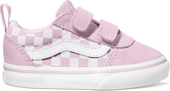 Vans Td Ward V Meisjes Sneakers - (Checkerboard) Lilac Snow - Maat 21