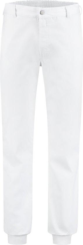 Yoworkwear Foodbroek polyester/katoen met manchetten wit maat 50