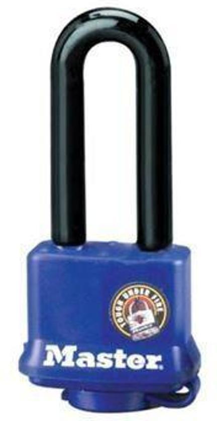 MasterLock all weather blauw hangslot lange beugel 40mm x 10mm, 312EURDLH