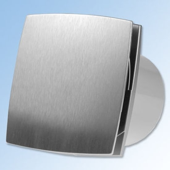 bol.com | Ventilator Design 125 Aluminium look, o.a. voor badkamer ...