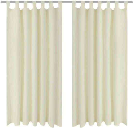 bol.com   vidaXL Micro-Satijnen Gordijnen met Ringen 140 x 175 cm 2 ...