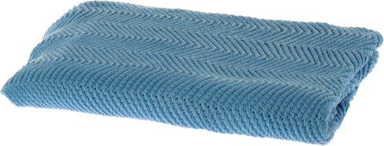Riverdale Zigzag - Plaid - 120x150cm - blauw