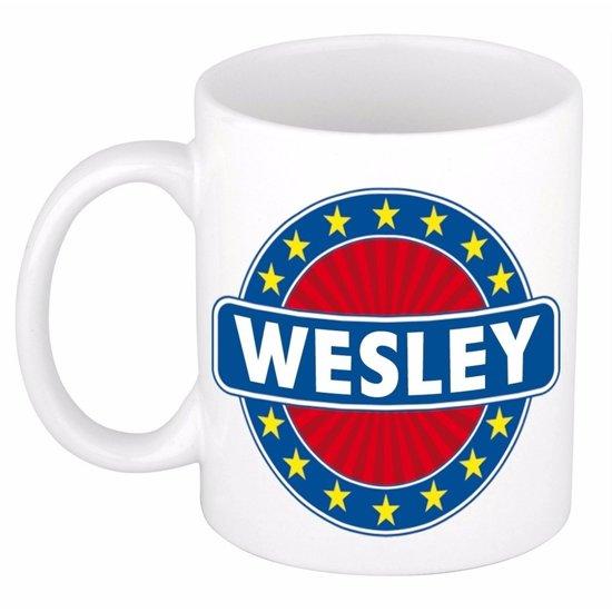 Wesley naam koffie mok / beker 300 ml  - namen mokken