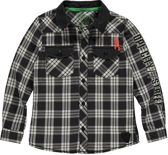 Maat Overhemd.Bol Com Quapi Jongens Overhemd Blauw Maat 146 152