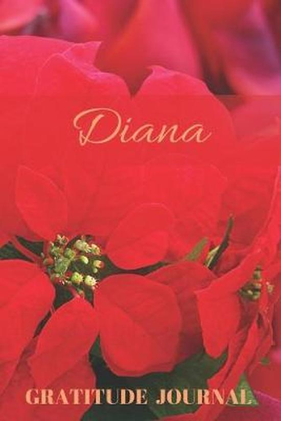 Diana Gratitude Journal: Christmas Design Personalized with Name and Prompted, for Women