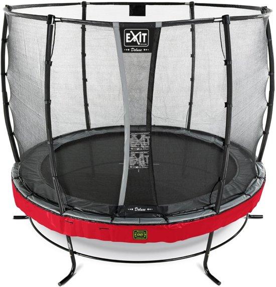 EXIT Elegant Premium trampoline ø305cm met veiligheidsnet Deluxe - rood