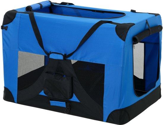 [pro.tec]® Dieren transportbox - reismand - koningsblauw - XL