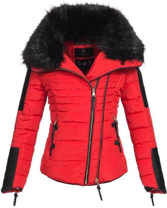 releasedatum: speciale verkoop nog een kans bol.com   Navahoo stijlvolle korte dames winterjas rood
