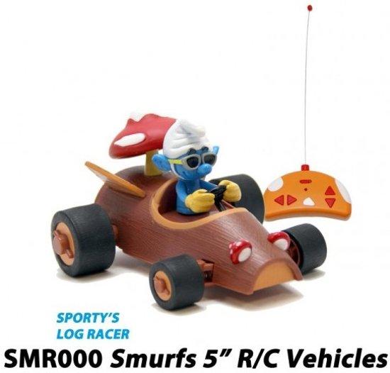 Smurfen Rc Kart Log Racer Smurf bestuurbare auto voor kinderen