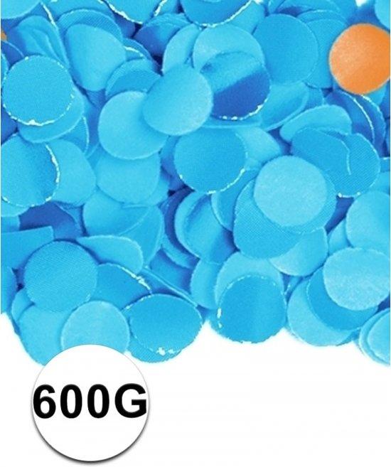 Blauwe confetti 600 gram