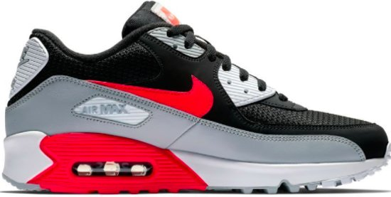 90 012 Air Essential Max Aj1285 47 Zwart Nike Grijs Rood qpwAO