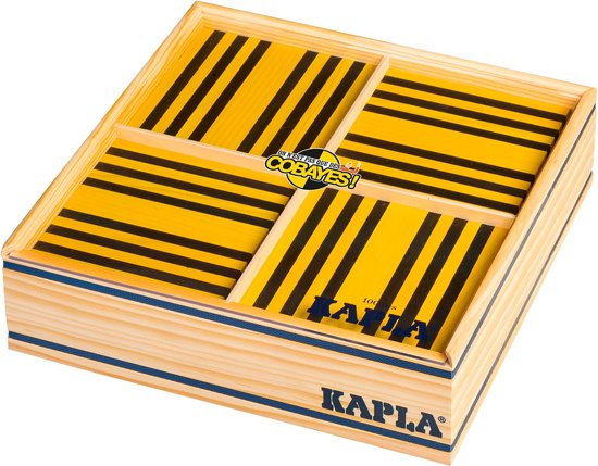 KAPLA Kleur - 100 Plankjes - Geel & Zwart