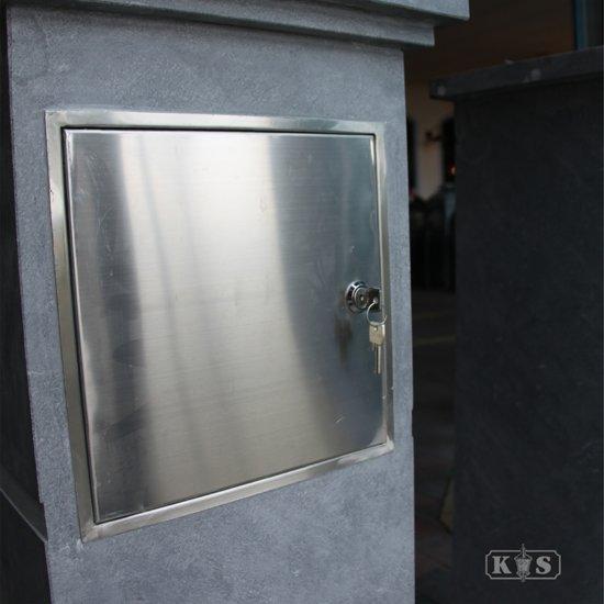 RVS brievenbus deur inbouw
