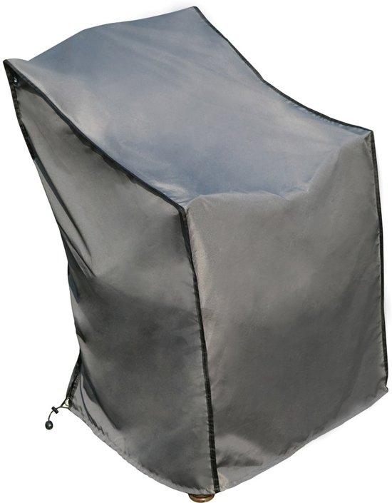 Beschermhoes Stoel | SORARA | Grijs | 67 x 67 x 80/110 cm (L x B x H) | Waterproof | Polyester & PU Coating (UV 50+)| Voor Tuin, Terras, Patio | Hoogwaardige Kwaliteit Cover / Afdekhoes